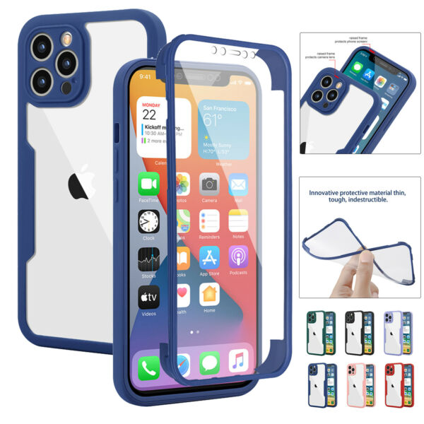 360° Full Body Case For iPhone 12 Pro Max 11 XS XR 8 7 Plus SE Screen Protector $3.79