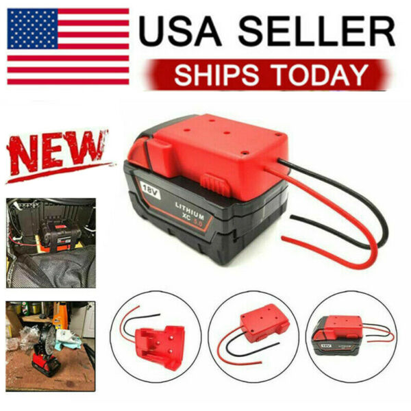 DIY For Milwaukee M18 XC 18V DIY Project Battery Adapter BASE Power 2 Wirings JL $10.86
