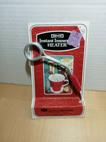 Vintage NEVCO Instant Immersion Heater Red Silver New Old Stock Gadget JAPAN $12.00