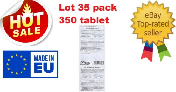 CARBO ACTIVATIS 250MG ACTIVATED CARBON 350 tablets 35 pack SALE $14.88