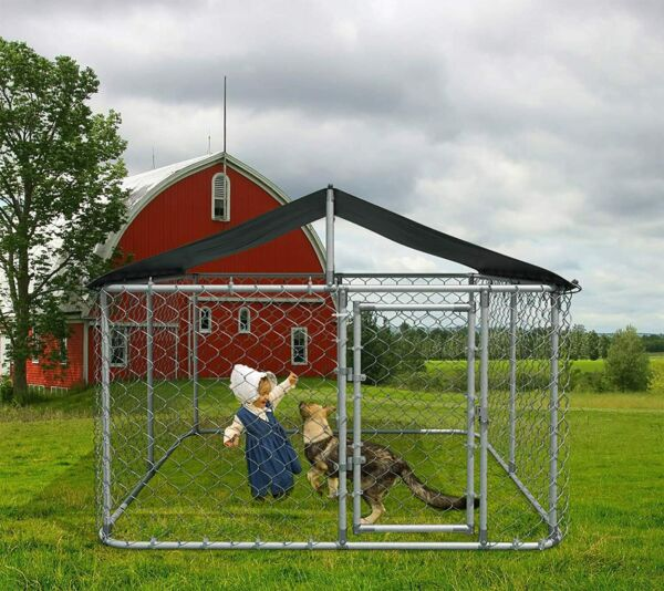 """118""""W Large Outdoor Dog Cage Kennel Playpen Pen Dog Fence Chicken Coop Run Cage $139.69"""