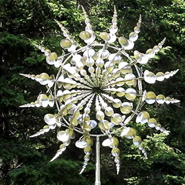Unique and Magical Metal Windmill Sculptures Move with The Wind Lawn Wind Spi $22.79