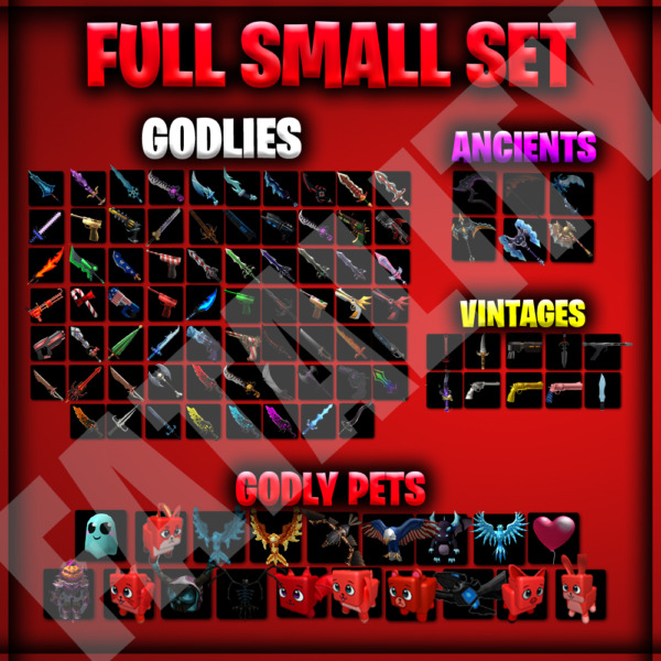 💥Roblox Murder Mystery 2💥 MM2 MEGA SMALL SET CHEAP FAST DELIVERY $19.99