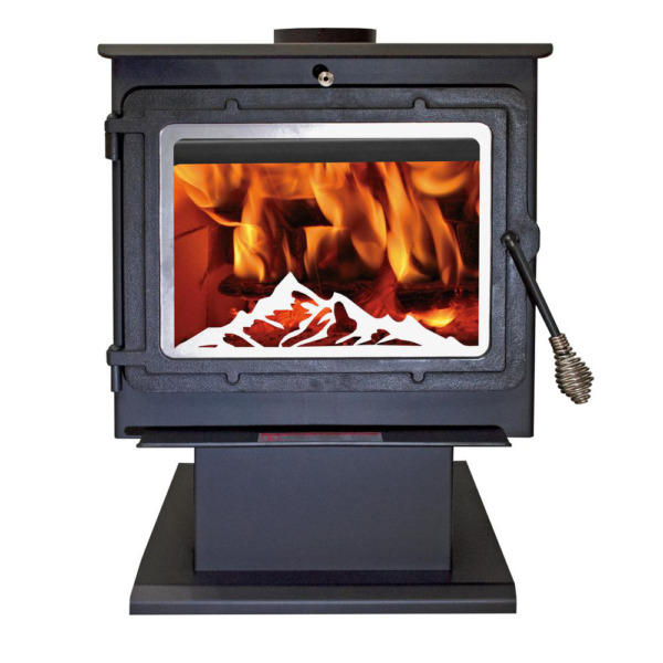 Wood Stove 2000 sq. ft. Air Wash System Ash Drawer Rear heat shield Blower Steel $1048.95