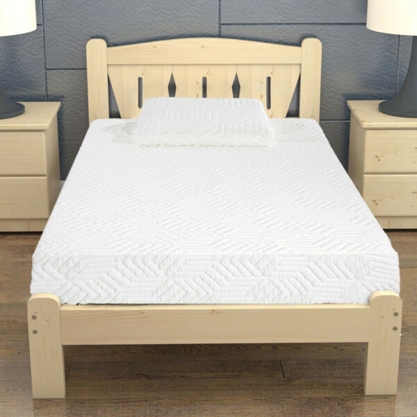 8 quot;triple layer cool medium high soft cotton double mattress with 2 pillows $189.99