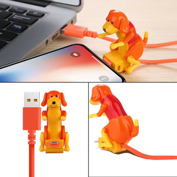 Funny Humping Dog Fast Charger Cable Charging Line Cute Power Date Cable MN C $9.59