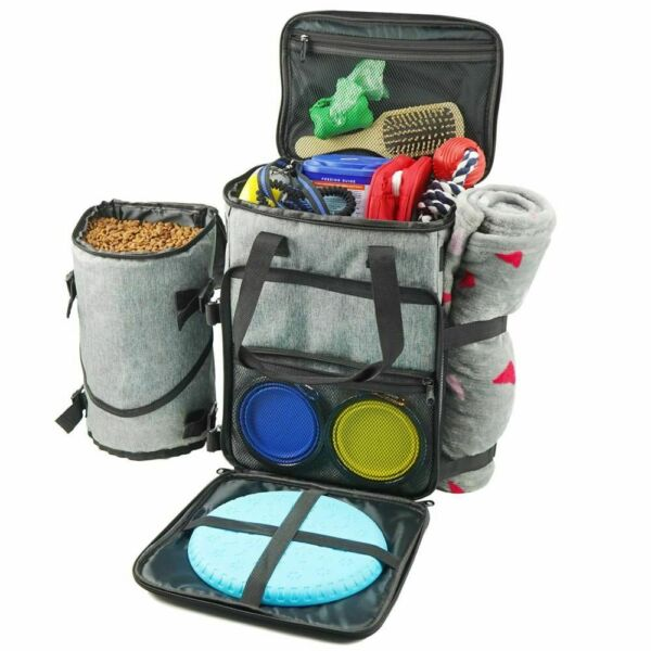 Pet Organizer Bag Soft Sided Carriers Dog Traveling Airline Tote Food Container $111.87