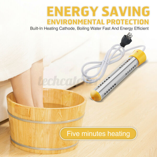Portable Immersion Heater Water Boiler US Plug For Washbasins Plastic Buckets US $21.19