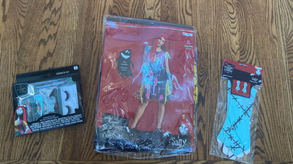 NWT Disney Nightmare Christmas Sally Deluxe Costume Large L Wig Gloves MakeUp 12 $59.99