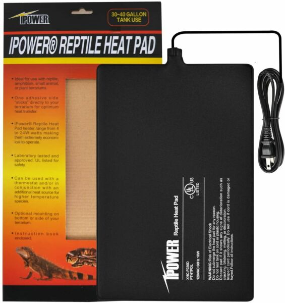iPower Reptile Heating Pad Under Tank Heater for Tropical amp; Temperate Reptiles $14.99