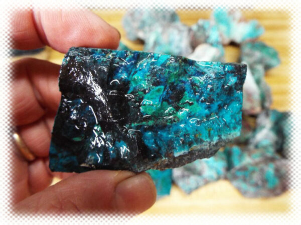 5pc AAA Sonora Mexico Chrysocolla Cuprite Rough Slices Slabs amp; End Cuts Lot