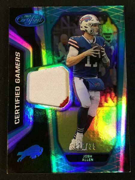Josh Allen 2nd Year 2019 Panini Certified Gamers 2 Color Jersey Patch Teal 26 35 $109.99