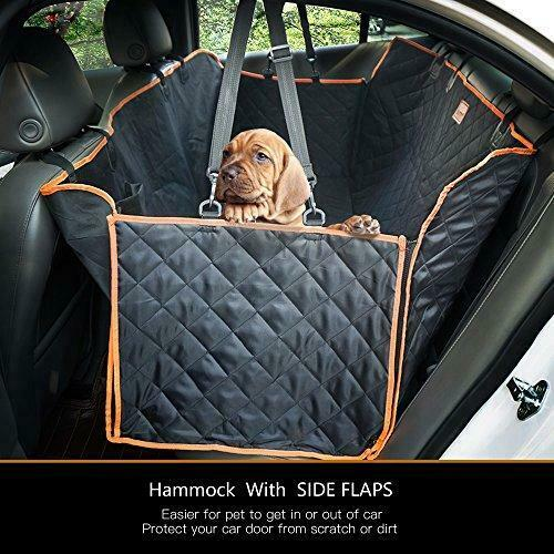 Lantoo Dog Seat Cover Large Back Seat Pet Seat Cover Hammock for Cars Trucks $39.09
