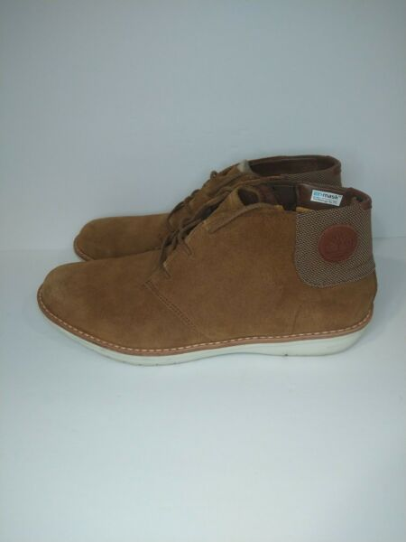 Men#x27;s Size 12M timberland Suede Brown Boots Leather Lace Up Casual chukka