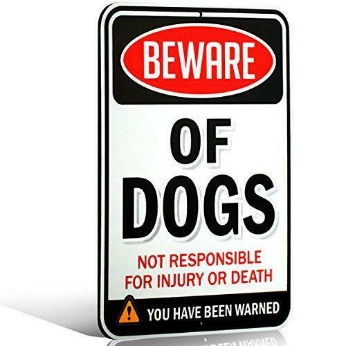 Signs Authority Beware of Dog Sign Warning Sign Beware of Dog Signs for $15.09