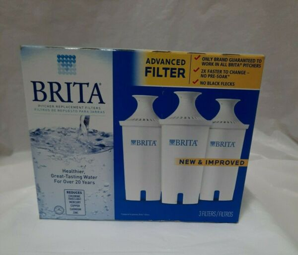BRITA Pitcher Replacement Filters Lot of 3 count in open box