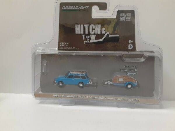 Diecast Model Car Hitch Tow Series 14 Volkswagen Type 1 64 Scale by Greenlight $10.00