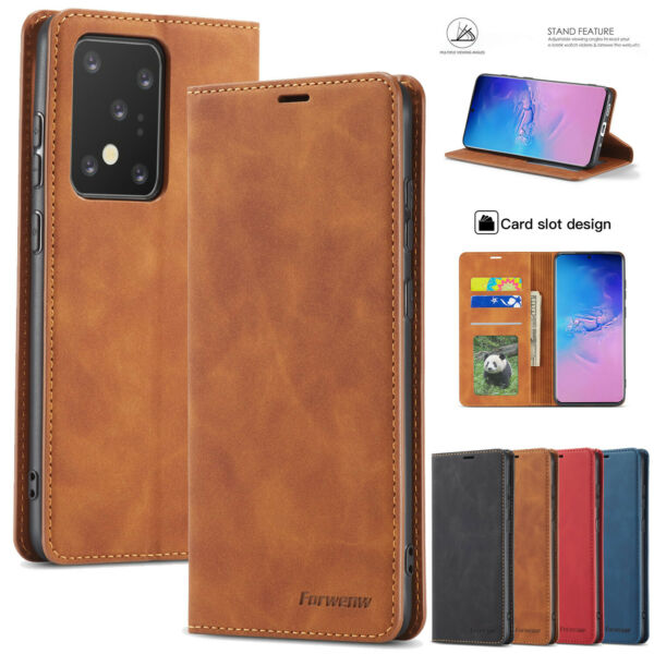 Magnetic Flip Leather Wallet Case For iPhone 12 11 Pro Max XS XR 8 7 Stand Cover
