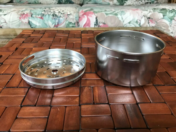 FARBERWARE ELECTRIC COFFEE POT STAINLESS STEEL 2 6 CUP BASKET AND LID PARTS ONLY