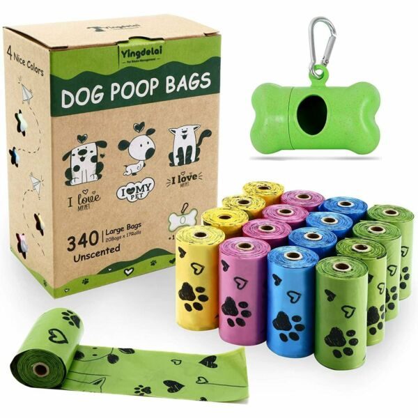 Biodegradable Dog Poop Bags Made with Corn Starch Large Environmentally Friend C $27.35