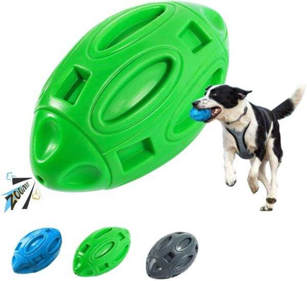 Dog Toys for Aggressive Chewers Indestructible Dog Fetch Ball Toys Squeaky Chew $9.89