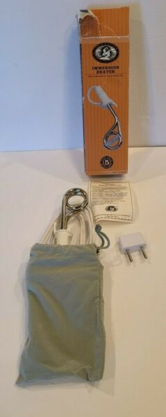 Lewis N. Clark Portable Travel Immersion Water Heater 120 240V for Boiling Water $19.99