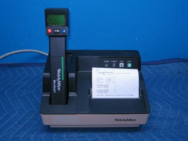 Welch Allyn MicroTymp 2 Tympanometer with Printer Charger and 60 Day Warranty