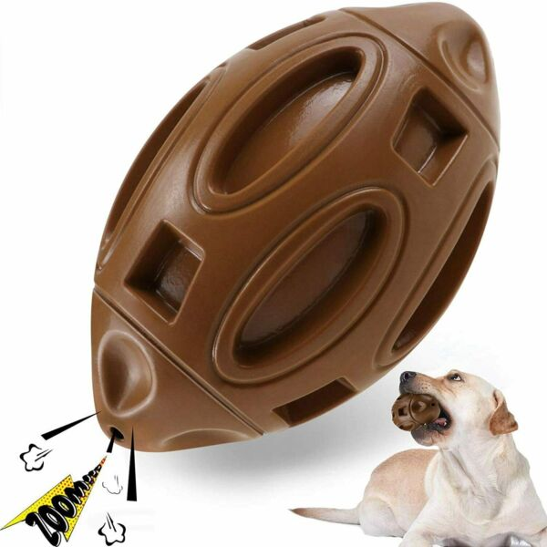 Dog Toys For Aggressive Chewers Indestructible Squeaky Dog Toy Fetch Ball Teeth $9.89
