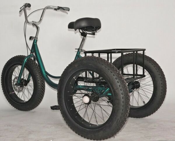 Adult Fat Tire Trike Tricycle 1 7 Speed 3 Wheel Bicycle For Shopping W Basket $507.99
