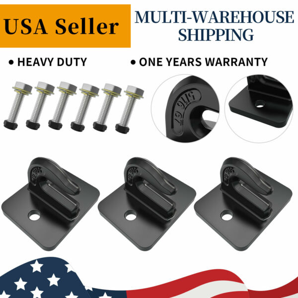 3pcs 5 16#x27;#x27; inch Bolt On Grab Hook Mount Hooks for Tractor Bucket Steel Plate $43.72