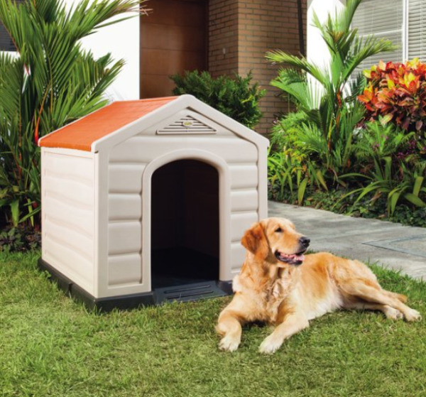 Rimax Taupe Resin Dog House for Large and Medium Breeds $51.46