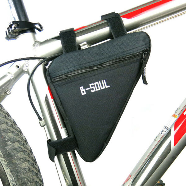 Waterproof Triangle Bicycle Bags Front Tube Frame Bag Mountain Bike LB C $6.05