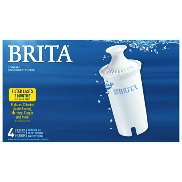 Brita Standard Water Filter Replacement Cartridges 4 Count Free Shipping