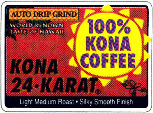 LION 24 KARAT 100% KONA COFFEE WHOLE BEANS 12  7 OZ BAGS