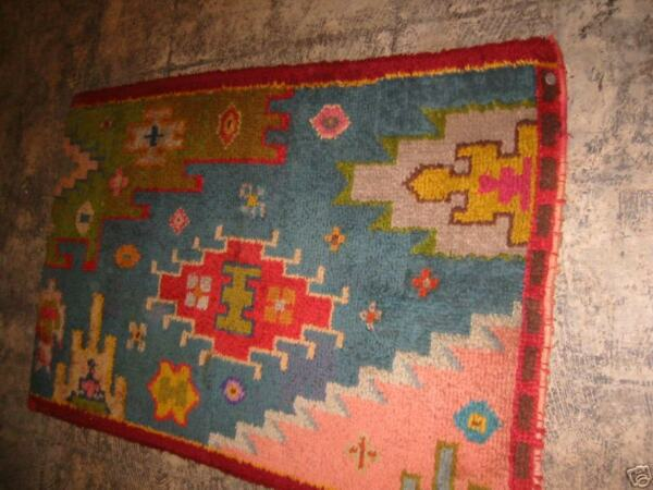 Antique European Savonnerie Sampler Rug On Burlap Wool