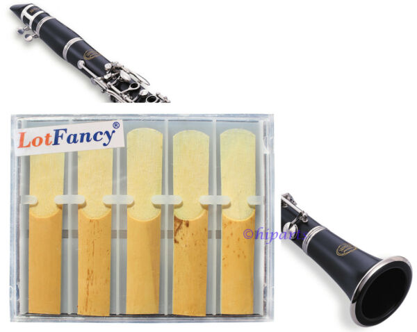 LotFancy 10 pieces Professional Size 2.5 (2 1/2) Bb Clarinet  Reeds