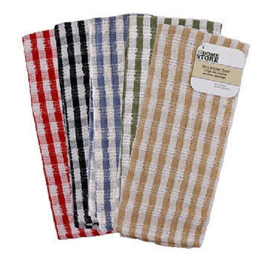 JUMBO CHECKED TERRY KITCHEN TOWELDISHTOWELSTERRY CLOTHLARGEHANGINGHAND