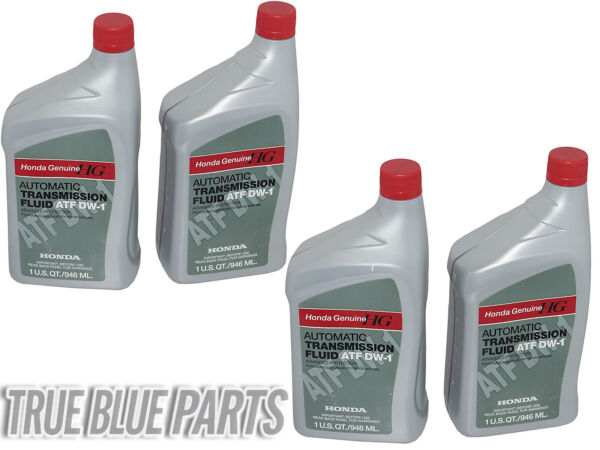 4 QUARTS Genuine Honda 08200-9008 Automatic Transmission Fluid ATF DW-1, ATF-Z1