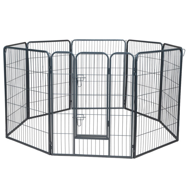 Dog Pet Playpen Heavy Duty Metal Exercise Fence Hammigrid 8 Panel 40