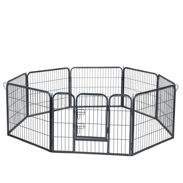 Dog Pet Playpen Heavy Duty Metal Exercise Fence Hammigrid 8 Panel 24