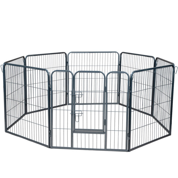 Dog Pet Playpen Heavy Duty Metal Exercise Fence Folding Kennel 8 Panel 32