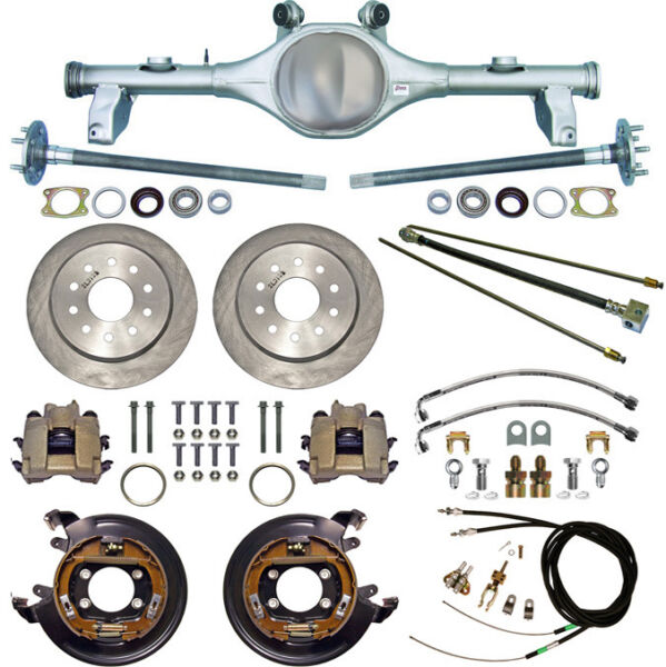 CURRIE 78-87 GM G-BODY REAR END & DISC BRAKESLINESPARKING BRAKE CABLESAXLES+