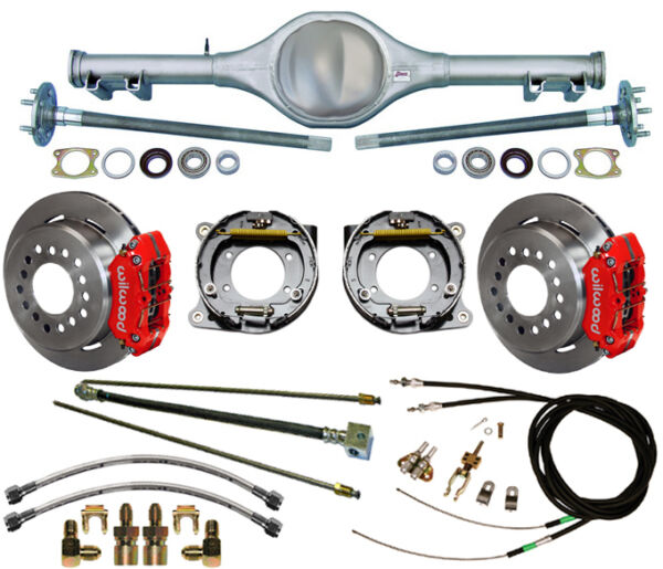 CURRIE 67-69 F-BODY MONO-LEAF REAR END & WILWOOD DISC BRAKESREDLINESE-CABLES