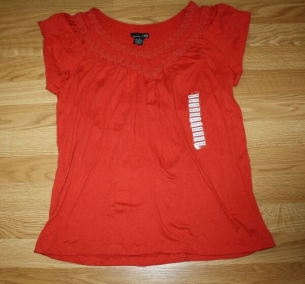 NWT Womens RXB Red quot;Tomatoquot; V Neck Twisted Shirt Size S Small $48