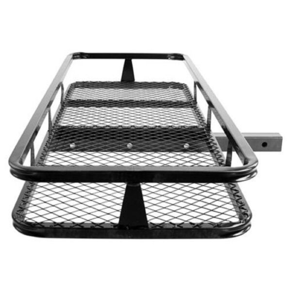 Hitch Mounted Cargo Carrier Luggage Basket Trailer Receiver Rack Truck SUV Car $93.49