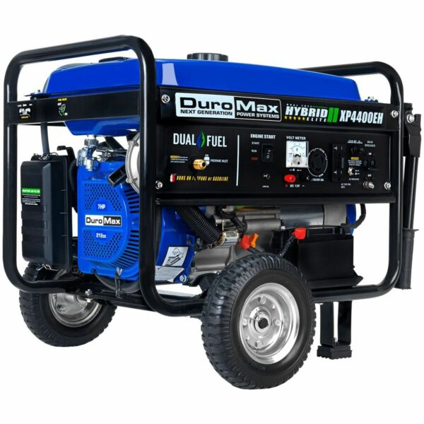 DuroMax XP4400EH 4400 Watt Electric Start Dual Fuel Hybrid Portable Generator