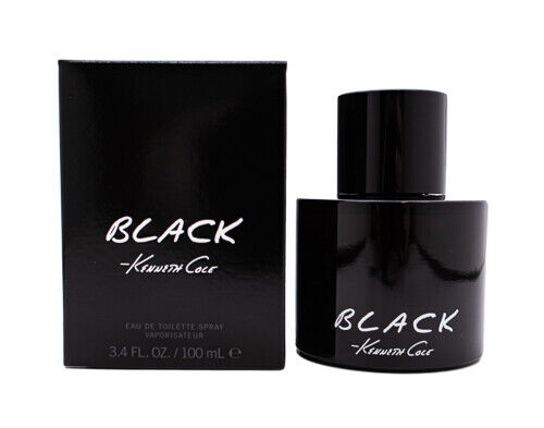 Black Kenneth Cole Cologne for Men 3.3 3.4 oz Brand New In Box $27.59