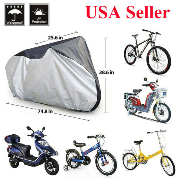 190T Nylon Waterproof Mountain Bike Bicycle Cycle Storage Cover with Buckle $12.99