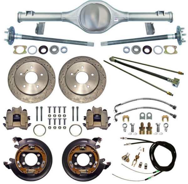 CURRIE 66-77 BRONCO REAR END & DRILLED DISC BRAKESLINESE-BRAKE CABLESAXLES++
