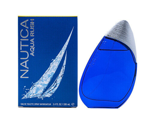 Nautica Aqua Rush by Nautica 3.4 oz Cologne for Men New In Box